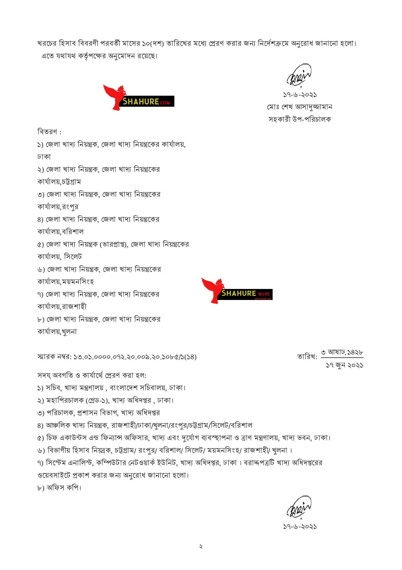 DgFood Exam Related Notice