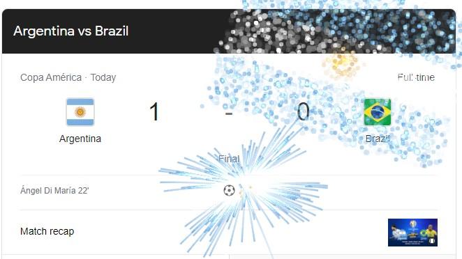 Argentina VS Brazil Match Result