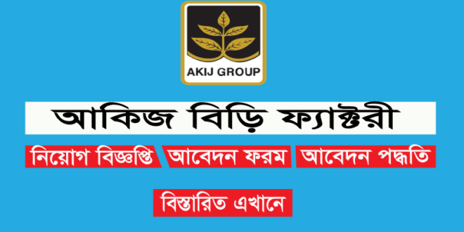 Akij Biri Factory Limited Job Circular For Graphics Designer