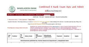 Combined 8 Bank Exam Date and Admit
