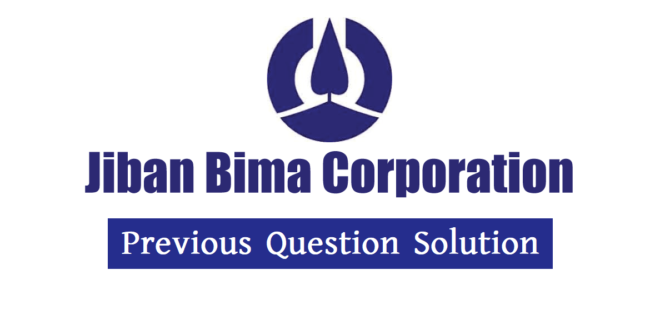 Jiban Bima Corporation (JBC) Previous Question Solution