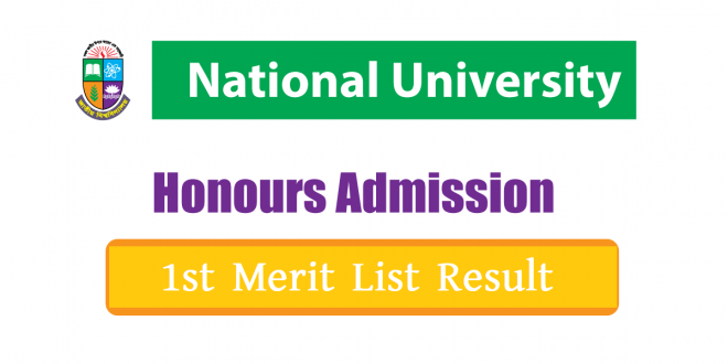 NU Honours 1st Merit List Result 2021
