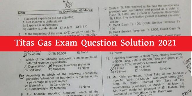 Titas Gas Exam Question Solution