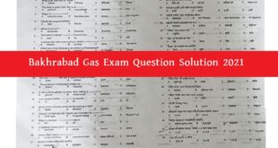 Bakhrabad Gas Exam Question