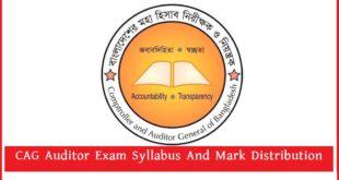 CAG Auditor Exam
