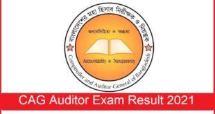 CAG Auditor Result