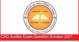 CAG Auditor Exam Question
