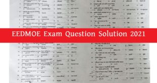 EEDMOE Question Solution