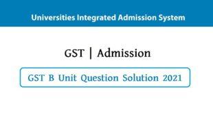 GST B Unit Question