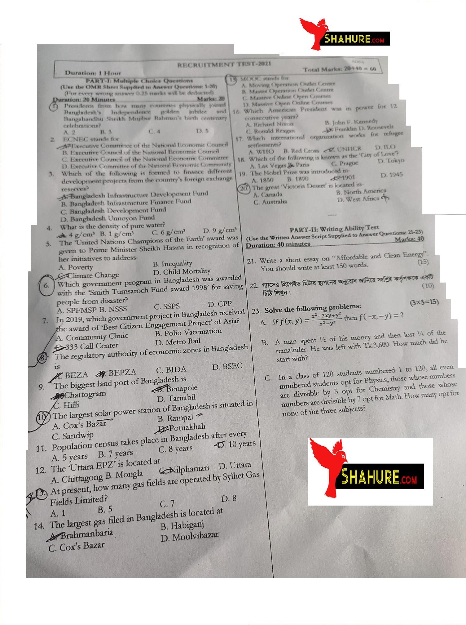 Sylhet Gas Field Question